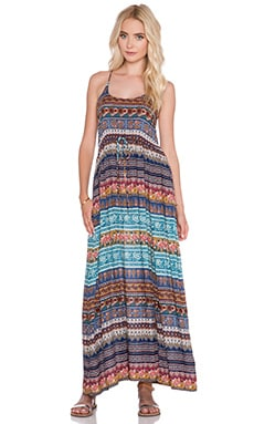 NOVELLA ROYALE Wild Love Maxi Dress in Blue Moroccan Rose