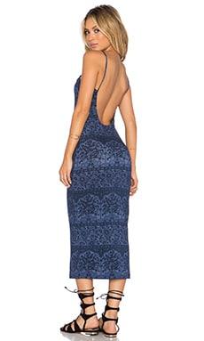 NOVELLA ROYALE Farrah Dress in Indigo Chantilly