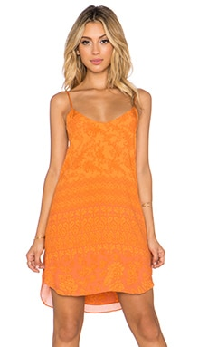 NOVELLA ROYALE Anita Mini Dress in Tangerine Hazely