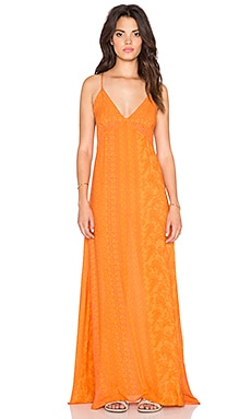 NOVELLA ROYALE Summerland Maxi Dress in Tangerine Hazely