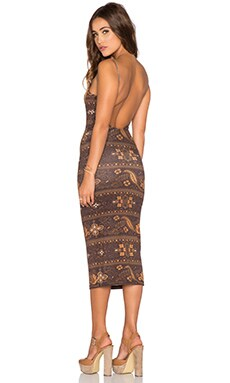 NOVELLA ROYALE Farrah Dress in Brown Moonshine