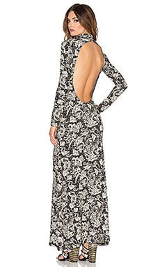 NOVELLA ROYALE Blackbird Maxi Dress in Black Rosewood