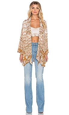 NOVELLA ROYALE Mix Kimono in Rust Hazely