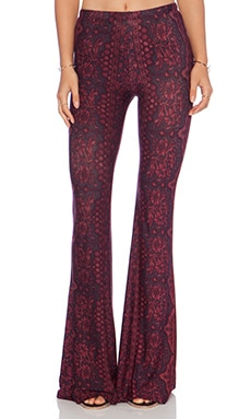 Janis Bell Bottoms in Oxblood Chantilly
