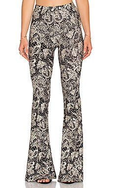NOVELLA ROYALE Janis Bell Bottoms in Black Rosewood