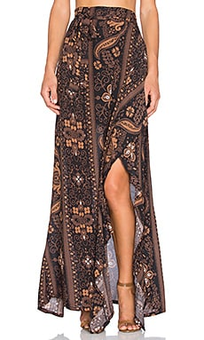 NOVELLA ROYALE Patti Skirt in Brown Moonshine
