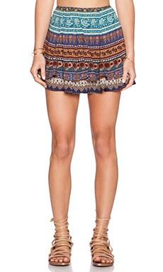 NOVELLA ROYALE Cleo Skirt in Blue Moroccan Rose