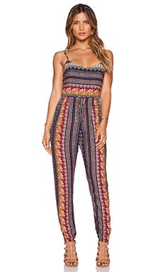 NOVELLA ROYALE West Coast Jumpsuit in Blue Morocco