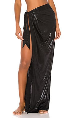 Black Pearl Long Wrap Skirt Normaillot $125
