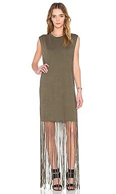 Kato Fringe Dress in Pigment Cargo