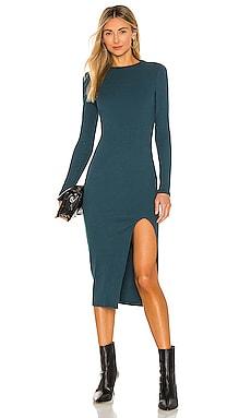 Cari Mock Neck Slit Dress NSF $225