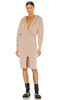 Luq Hooded Zip Dress NSF $295