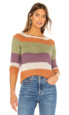 Daja Raglan Striped Sweater NSF $395 NEW ARRIVAL