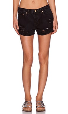 NSF Kit Distressed Short in Black Out