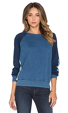 NSF Brielle Colorblock Sweatshirt in Indigo Patch