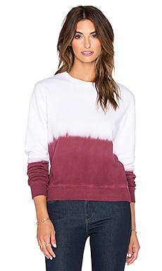 NSF Marcia Sweatshirt in Burgundy Dip Dye