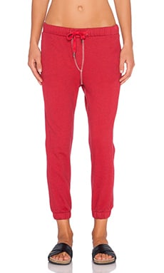 Tyler Drawstring Sweatpant in Overdye Red