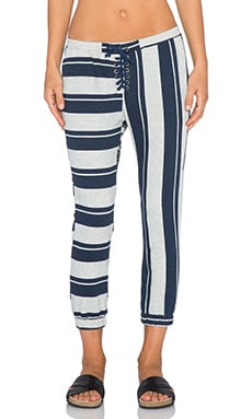NSF Dru Sweatpant in Heather Stripe