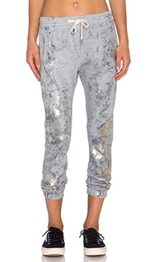 NSF Tyler Drawstring Sweatpant in Heather Grey Foil