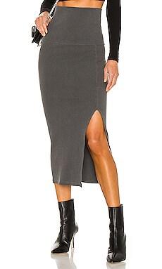 Effy Foldover Waist Slit Skirt NSF $175