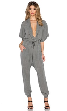 NSF Gina Jumpsuit in Pigment Black