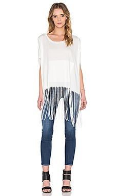 Lulu Fringe Tee in White