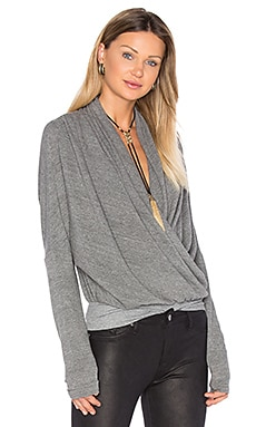 Maje Long Sleeve Top in Heather Grey