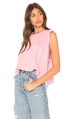 Купить Ассиметричная укороченная майка fonda - NSF розового цвета