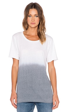 NSF Emmy Tee in White & Slate Dip