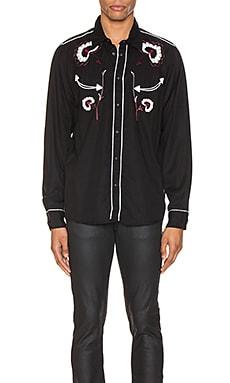 STELLAN WESTERN FLOWER 버튼업 셔츠 Nudie Jeans $133