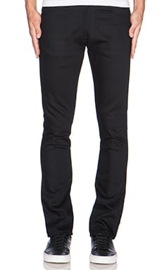 Nudie Jeans Slim Jim in Org. Dry Black