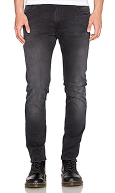 Nudie Jeans Thin Finn in Black Brutus