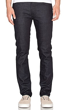 Nudie Jeans Thin Finn in Dry Deep Dark