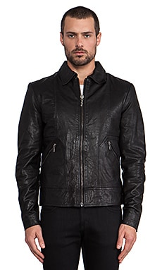Nudie Jeans Jonny Leather Jacket in Black