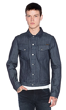 Nudie Jeans Billy Jacket Dry Open in Denim