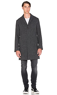 Nudie Jeans Leon Wool Coat in Antactice