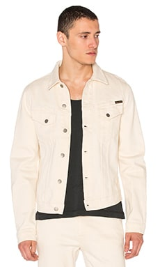 Nudie Jeans Billy Dry Twill Jacket in Ecru
