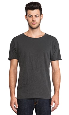 Nudie Jeans Round Neck Tee in Anthracite
