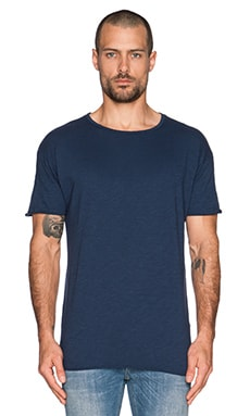 Nudie Jeans Hem T-Shirt Org. Slub in Blue
