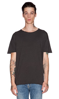 Nudie Jeans T-Shirt Org. Slub in Dark Grey