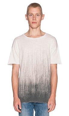 Nudie Jeans T-Shirt Org. Ballpen in Off White Black