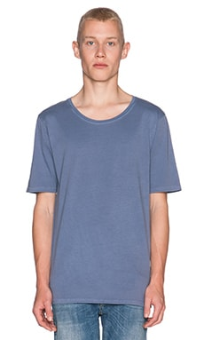 Nudie Jeans Regular Roundneck Org. T-Shirt Indigo Dye in Light Blue