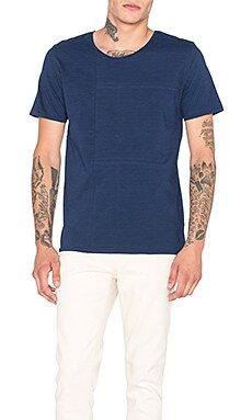Nudie Jeans Patched Tee in Indigo