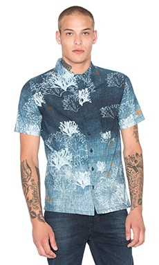 Nudie Jeans Brandon Seaweed Shirt in Blue
