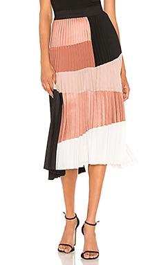 Colorblock Skirt Nude $216