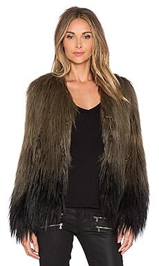 Nue Fernand Faux Fur Jacket in Brousse Tye & Dye Noir