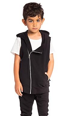 Diagonal Hooded Vest