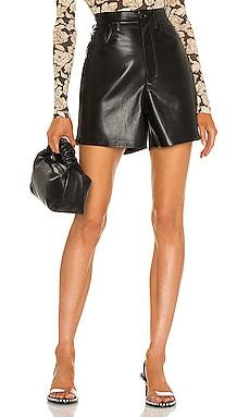 Leana Vegan Leather Short Nanushka $277