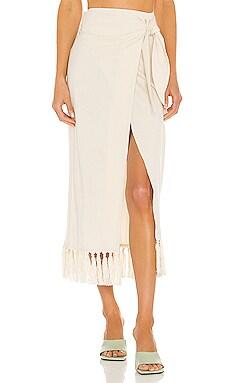 Randi Wrap Skirt Nanushka $395 NEW