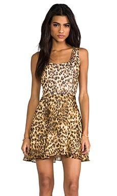 Naven Scoop Neck Short Jackie in Leopard